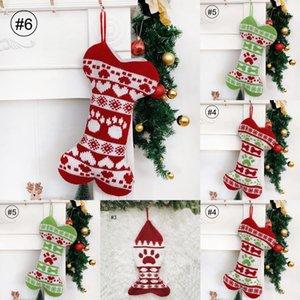 Regalo di natale Calza OvMTg qualità Borse Flanella Non tessuto di Natale Calza della Befana Large Size Plain Bag Socks VT decorativo