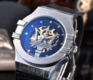grife de luxo relógios mecânicos automáticos dos homens do Maserati alta qualidade esportes carro esportes dos homens movimento fashion Sapphire vidro w