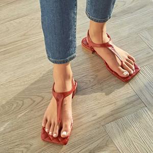 Mulheres Verão sandálias flip-flop Sandals Senhoras Flats Designer Praça Toe Praia Sandale Placa Femme