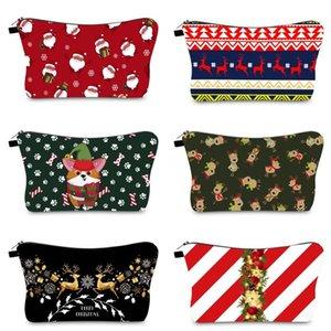 Weihnachten Braut Make-up Taschen Mädchen Bräute Letters Kulturbeutel Lippenstift Weihnachts Elk Cosmetic Bag Weihnachten Make-up-Beutel-Geschenk-Beutel DHF1293