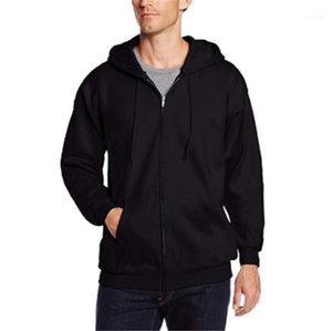 Vêtements de sport Sport Fitness manches longues à capuche solide Couleur Sweat Hommes avec fermeture éclair capuche Corset Cardigan Mens