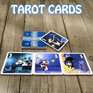 English Tarot Card Tarot Board Full Cat Astrologer Deck English Cute Game Party Game Cats Card Kitty House Tarot Cards Game Full yxlGbD