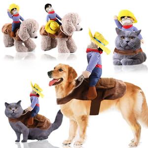 Dog clothes cat Santa Claus supplies pet riding equipment dress Halloween funny small medium dog leotard coat clothes role play