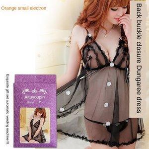 S5EDw QFzBR Backcardigan Short envases exquisita uniforme V-cuello profundo backless atractivo camisón bordado pijamas falda falda pijamas embroi