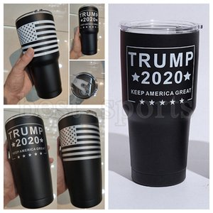 20oz 30oz Trump Tumblers Stainless Steel Vacuum Water Bottle 2020 US Flag Coffee Mugs Trump Election Cup With Lid CYZ2737 Sea Shipping