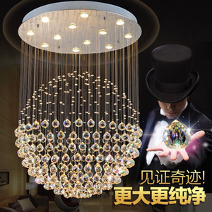 Best quality LED K9 Ball Crystal Chandeliers led Pendant Light High quality led gu10 Tri-tone lightchandelier lightsCeiling Light