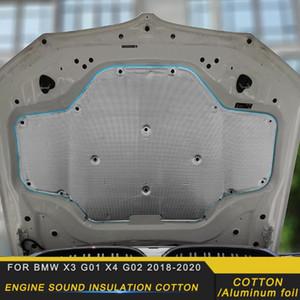 Автомобиль спереди Hood Firewall Engine Мат Pad Cover Deadener Heat Sound шумоизоляция Cotton для X3 G01 X4 G02 2020 2020
