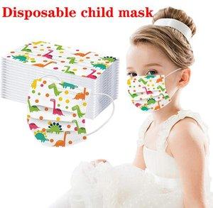 Младенческая Противогаз Одноразовые Cartoon Мальчики Нетканые Рот Маска Анти Загрязнения дышащий маски печать Face для детей D997