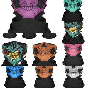 Boyun Winter 3d Dikişsiz Magic Windproof Kafa Isıtıcı Yüz Kafatası Cadılar Bayramı Şapkalar Headskull Eşarp Bisiklet Maske