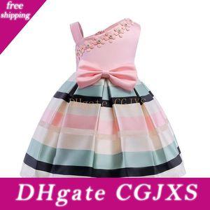 Vieeoease ragazze Flower Dress Abbigliamento Bambini 2018 Summer Fashion maniche della maglia dell'arco della principessa Party Dress Ee -362