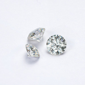 Round Brilliant Moissanite Diamond 0.5ct 1ct 2ct 3ct D color VVS1 Excellent Cut Jewelry Accessory 2020 Wholesale Fit Wedding Ring Earring