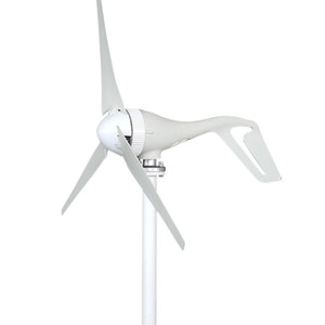 12v 24V 400W Small 3 Phase AC Permanent Magnet Vertical Wind Turbine Generator for Home Lights Boat Wind Controller