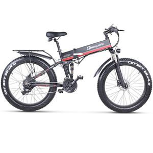 AB MX01 Elektrikli Bisiklet 48 V 1000 W Elektrikli Bisiklet Yağ Lastik 48 V Lityum-Batarya Ebike yetişkinler için katlanır dağ bisikleti
