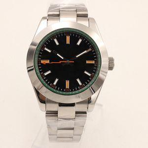 Новая автоматическая GD2813 Oyster движение 39MM Мужские часы Часы из нержавеющей стали 316L 116400 Черный циферблат Зеленый Ручной Внутренние мужские наручные часы