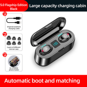 Wireless Bluetooth Charger Earphone TWS HIFI In-ear Sports Running Headset Support All Phones 2000mAH And Holder For Moive Watch