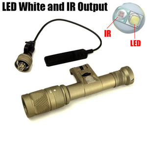 Dual LED Tactical SF IFM M600V IR de la luz blanca y de salida IR Hunting Rifle 400 lúmenes linterna