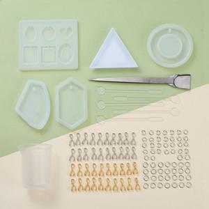 Moule résine liquide silicone DIY Géométrique Triangle résine époxy Craft Miroir pour la fabrication de bijoux collier pendentif gâteau décoratif