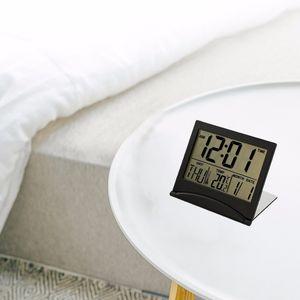 Calendar Display Alarm Clock Electronic Small Loud Digital Weather Station Desk Temperature Travel Ectronic Mini Clock