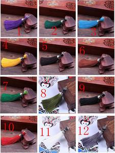2020 Beautiful Lobster Clasp Vertical Tassel Round Beads Keychain Tassel Hanging Ears Diy Pendant Alloy Craft Tassel Decoration Bag Phone