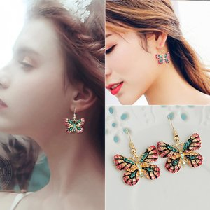 2020 designer new long earrings temperament cold wind super fairy Korean version of simple personality net red tassel pendant earrings