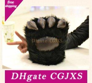 Lobos de invierno Guantes Negro Bear Claw Peluches mano caliente pata de oso de los regalos de cumpleaños Guantes