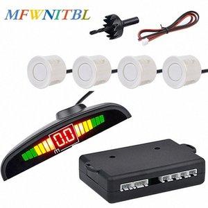MFWNITBL Auto Parktronic Led sensore di parcheggio Kit 4 sensori display inversione Assistenza radar di sostegno auto del sistema del monitor del rivelatore QRda #