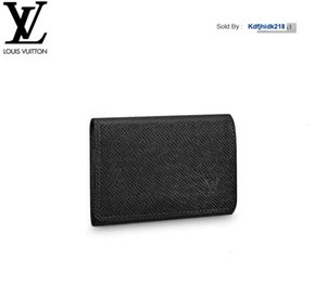 KDFJHIDK218 PTSF M64595 ENVELOPPE CARTE DE VISITE الأسود MEN الجلد الحقيقي سلسلة WALLETS COMPACT محفظة CLUTCHES مساء مفتاح حامل بطاقة
