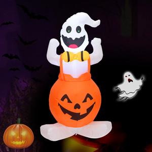 Santo 120cm inflable de Halloween Sentado en la calabaza decoración del festival Suministros EE.UU. y la normativa europea HH9-3286