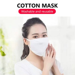 Mascarillas de gran tamaño de algodón contra polvillo reutilizable a prueba de polvo del respirador transpirable Tela Boca Mascarilla cubierta