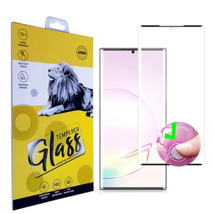 For Samsung Galaxy Note20ultra Note20 S20 Ultra S10 S9 S8 note10 Plus Note9 Note8 5D Case Friendly Tempered Glass Screen Protector with box