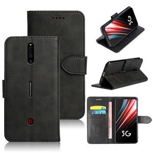 Portafoglio in pelle PU copertura per ZTE Nubia Magia rossa 5G cover posteriore del telefono di caso con slot per schede ID