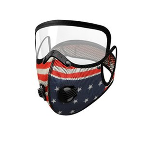 Drapeau du vélo Masque 2 en 1 Full Face Protection du visage Masque anti-poussière respirant la respiration Valve Styliste Masque DHD954