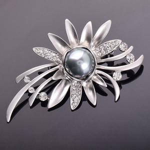 8U4pW Y002 youzun boutique della perla di stile coreano di cristallo di qualità superiore in cristallo spilla fiore squisita spilla di perle sposa
