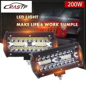 RASTP-6.5 inch 200W LED Light Bar Spot Flood Beam for Work Driving Offroad Boat Car Tractor Truck 4x4 SUV 12V 24V -CL001