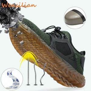 Men Work Shoes Steel Toe Safety Indestructible Boots Working Male Puncture Proof Sneakers Zapatos De Seguridad Chaussure Homme mnXA#
