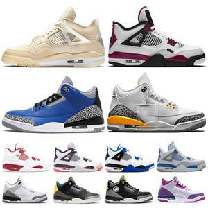 3 3s 4 4s NRG puro Blanco internacional vuelo Negro Cemento Katrina hombres Deporte azul Corea Casual zapato hombre diseñador sneaker