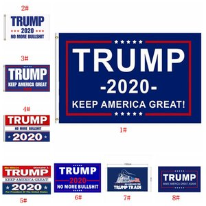 Donald Trump Flag Multi Styles 2020 Trump Flag Keep America Große Donald For President Kampagne Banner Garten Flags 90 * 150cm BWF844