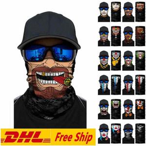 DHL SHIP Unisex Erwachsene Weihnachten Halloween-Gesichtsmaske Schal Promi-Stirnband-Magie Masken für Ski Motorrad Radfahren Angeln Outdoor Sports