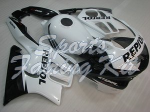Fairings للالبلاستيك لCBR600 F3 1995-1998 أسود أبيض هدية CBR 600 F3 1995 البلاستيك Fairings للCBR600 F3 1996