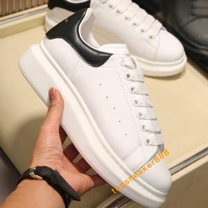 2020 Shoes Moda Mulheres sapatos de couro de Men Lace Up Platform clássico Shoes Homem ocasional com Box