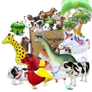 애완 동물을 산책 호일 풍선 산책 애완 동물 호일 풍선 생일 파티 장식 만화 풍선 어린이 장난감