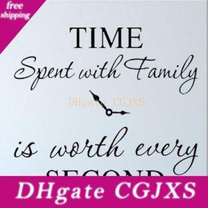 Le temps passé avec la famille est Worth Every Second Stickers muraux amovibles Art autocollant bricolage Famille Citations Décoration d'intérieur