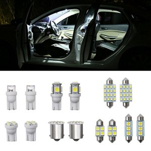 Cool 14Pcs Set License Plate Light For T10 31mm Hot Map Dome License Plate Light LED Interior Package Kit Car Lights