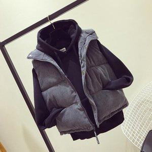 ZWI6W autunno e l'inverno coreano cappotto vita libera stile ispessite Wick cotone imbottito vestiti Vest cotone imbottito vestiti velluto a coste breve Co Down