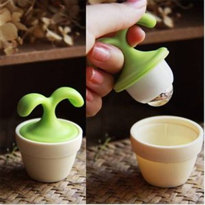 1 Pc Massage Lymph Flower Pot Massagers Flower Seedling Potted Ball Small Portable Massagers Cervical Spine Massager Neck Waist