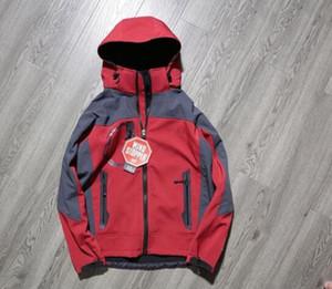 быстрый корабль Мужчины Softshell Jacket лицо пальто Мужчины На открытом воздухе Спорт Пальто женщин Лыжный Туризм ветрозащитный Зимний Outwear Soft Shell мужчин походные куртки