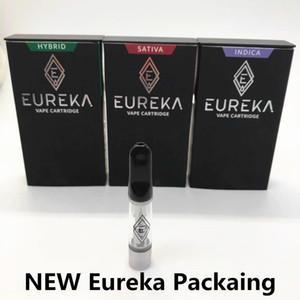 El más reciente Eureka cartuchos Vape Plumas de embalaje 510 Tema Carros de 0,8 ml 1,0 ml caja gruesa de aceite vaporizador Nueva prueba de niños de puntas cerámicas atomizador