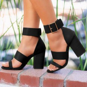 Women Sexy High Heels Sandals Summer Open-toe Wedding Shoes Ladies Belt Buckle Casual Sandals Women Elegant Party #g3