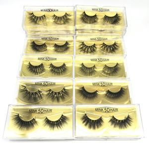 5D Vison Cils 20 mm 22mm Mink Lash 16 Styles 3d Vison Cils naturel faux cils Maquillage Faux cils Extension 100% à la main Lash