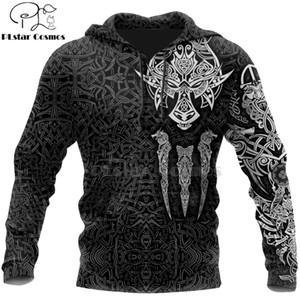 PLstar Cosmos Guerrero de Viking tatuaje nuevo de la manera ocasional del chándal de la impresión 3D / chaqueta / style-45 hombres de las mujeres de la cremallera / sudadera con capucha / sudadera